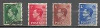 4 W Valeurs Used, Oblitérées - U. K. - EDWARD VIII   * 1936 - 1902-1951 (Koningen)