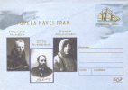 FRIDTJOF NANSEN,OTTO SVERDRUP,R. AMUNDSEN,EXPLORATEURS,SHI P FRAM 2004 COVER STATIONERY ROMANIA. - Erforscher