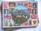 Liechtenstein  Vaduz Schloss Und Briefmarken - Liechtenstein