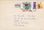 MARCOPHILIE,LETTRE,POLOGNE,POLAND,POLSKA,POCZTA,POSTAMP,3 TIMBRES,CAD WARSZAWA,VARSOVIE,1968,POUR FRANCE,st Etienne