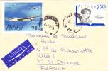 MARCOPHILIE,LETTRE,POLOGNE,POLAND,POLSKA,POCZTA,POSTAMP,3 TIMBRES,CAD WARSZAWA,VARSOVIE,1969,POUR FRANCE,st Etienne