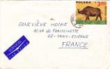 MARCOPHILIE,LETTRE,POLOGNE,POLAND,POLSKA,POCZTA,POSTAMP,2  TIMBRES,CAD WARSZAWA,VARSOVIE,1969,POUR FRANCE,st Etienne
