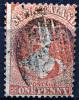 NEW ZEALAND 1863-64 Wmk Star Perf.13 Carmine - Sc.16 Or Sc.27C Used (perfect) Rare - Usados