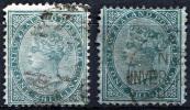 NEW ZEALAND 1874 Wmk NZ Star - Yv.57 (Mi.49, Sc.56) Two Types - 1855-1907 Kronenkolonie