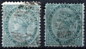 NEW ZEALAND 1874 Wmk NZ Star - Yv.57 (Mi.49, Sc.56) Two Types - Used Stamps