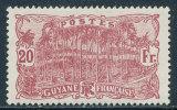 FRENCH GUIANA 1924 20 FRANCS HIGH VALUE SC# 86 FRESH VF OG LH SCARCE - French Guiana (1886-1949)