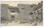 CPA  EGYPTE  THEBES  Medinet Habou Grand Temple De Ramses II - Egypte