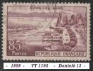 1959 - Europe - France - Evian Les Bains - 85 F. Lilas-brun - - Oblitérés