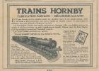 """Pub  De 1926 """" TRAINS HORNBY  Méccano France """" - Publicités"""