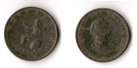 GRANDE - BRETAGNE 1/2 PENNY  1799   RARE ! QUALITE ! - 1662-1816 : Anciennes Frappes Fin XVII° - Début XIX° S.