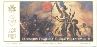 EXPOSICION FILATELICA MUNDIAL PHILEXFRANCE 89 REPUBLICA ARGENTINA EUGENE DELACROIX HOJITA BLOC NRO. 78 TBE MNH - Argentina