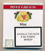 Boite De Cigares : ROMEO Y JULIETA, Mini, Cuba, Habanos, Hecho En Cuba (10 Cigarritos), 100 % Tabacco Cubano - Contenitori Di Tabacco (vuoti)