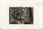 AUTHENTIQUE EAU FORTE 1835  -   FORET DE LA GUYANE   -  FRANCE PITTORESQUE - Estampes & Gravures