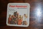 Ancien Sous-bock, Old Beermat, épais Henninger Kaiser Pilsner - Sous-bocks