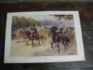 Litho Double Page Projet De Tenues Pour Les Fanfares De La Cavalerie Française Dessin Georges SCOTT - Old Paper