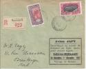 Cote Des Somalis, Recommandée De Djibouti, Avion Japy, Recordman Du Monde De Distance En Ligne Droite Pour Avion Léger - Côte Française Des Somalis (1894-1967)