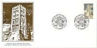 Grande Env Fdc France+feuille D´or, 6/7/85 Codalet, N°2351,abbaye De St Michel De Cuxa - 1980-1989
