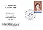 THE NOBEL PRIZE IN PHYSICS 1904 LORD RAYLEIGH ENGLAND ,cover Obliteration Concordante 2004 Romania. - Premio Nobel
