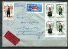 "DDR 1966  Express Postal Cover,Bedarfsbrief Mit Mi.Nr.1215-17 MIF ""Leipzig-Westberlin  "" 1 Beleg - [6] República Democrática"