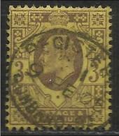 Gran Bretagna - 3 P. Usato/used - N. Stanley Gibbons 232 - N. Unificato 111 - 1902-1951 (Re)
