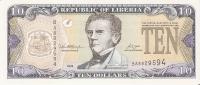 BILLETE DE LIBERIA DE 10 DOLLARS  DEL  AÑO 2006  (BANKNOTE) NUEVO SIN CIRCULAR - Liberia