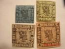 BERGEDORF, SCOTT# 1 MOG, #3 MOG, #4 MNG, & #5 MOG - Bergedorf