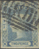 # NEW SOUTH WALES   14, Used,  No Watermark,  Plate 1  (ns014-6,  Ec - Used Stamps