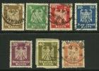 GERMANIA REICH 1924 - AQUILA - N. 348 / 54 Us., Serie Compl.  - Cat. 6,00 € - L. N. 3481 - Gebruikt