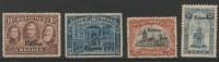 BELGIUM BELGIQUE 1920 EUPEN OVERPRINT 4 V. MVLH # 14-15-20-21 (r. 6030) - Nuovi