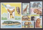 PGL W105 - MONGOLIE Yv N°1850/56 + BF ** ANIMAUX ANIMALS - Mongolia