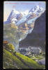 POSTCARD SWITZERLAND MURREN 1642 M GRAND HOTEL DES ALPES ALPS - BE Berne
