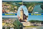 19592 Ponthierry Saint Fargeau, Vues Aériennes, La Poste église De Moulignon. Coll Maison De La Presse, 3cp82.4617 Cim -