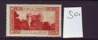 FRANCE. TIMBRE. VIGNETTE. CINDERELLA. BELLE FRANCE. PARIS...........MONTREUIL BELLAY - Tourisme (Vignettes)
