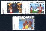 Canada 1976 Montreal Olympic Games XII Set Of 3, MNH - 1952-.... Reinado De Elizabeth II