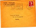 LSI 1011C Flamme Postale Chéque Postal Economise Temps Et Argent Angers RP Paris - 1961-....