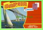 SARNIA, ONTARIO - POCHETTE SOUVENIR FOLDER OF SARNIA 8 VIEWS - - Ontario