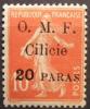 1920 Cilicie 20 Paras Sur Semeuse 10 Centimes  Surchargé YT 82 Neuf *  Côte Dallay 5,00 € - Zonder Classificatie