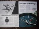 LOT DE  2  Publicités  - MONTRE - Oméga - 1960 à 1970 - Horlogerie  - - Reclame