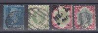 GB-LOT AVEC NUM 4 ET AUTRE..BONNE COTE =255 EURO - 1840-1901 (Victoria)