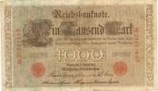 Billete 1000 Mark Reich Aleman 1910.serie N. Banknote - [ 2] 1871-1918 : Empire Allemand