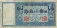 Billete 100 Mark Reich Aleman 1910. Serie D. Banknote - [ 2] 1871-1918 : Empire Allemand