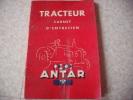 Carnet D´entretien De Tracteur  Ste Arema  Le Mans  Sarthe - Tracteurs