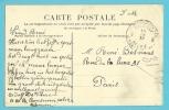 Kaart Verzonden Van HMB BONSECOUR / ROUEN (Hopital Militaire Belge) Met Stempel PosteMilitairesBelgique  8 In 1917 - Armée Belge
