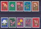 MACAU (CHINA) - 1953 - MICHEL N° 394/403 **  - COTE 2003 : 100 EUROS - FLEURS - Macao