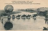 L´Année En Cartes Postales - 1908 - MAROC - Colonne Accompagnée Du Ballon Captif Traversant à Gué L´Oued Neffifigh - Non Classés