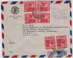 COLOMBIA - 1953 - ENVELOPPE Par AVION De BOGOTA Pour STRASBOURG - POSTE AERIENNE - Colombie
