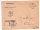 V591 - HAGENTHAL LE BAS HAUT RHIN - 1962 - Entête Mairie - - Marcophilie (Lettres)
