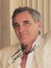 CHARLES AZNAVOUR GRANDE CARTE DEDICACEE - Autographes