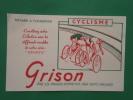 """Buvard  . Série  """"sports"""" :Cyclisme . GRISON  -produit D´entretien Pour Chaussures - Sports"""