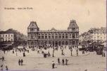 CPA LA GARE DU NORD BRUXELLES ** BRUSSEL STATION TRAM - Spoorwegen, Stations